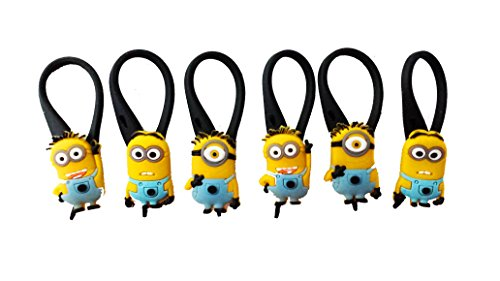 [AVIRGO 6 pcs Glass Charms Wineglass Drink Marker Set # 31-13 by Hermes] (Despicable Me Glasses)