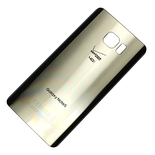- RBC Battery Back Door Glass Housing Cover for Samsung Galaxy Note 5 Verizon N920V Gold