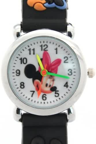 Timernall Cartoon Micky Mouse Quartz Black Kids Watches