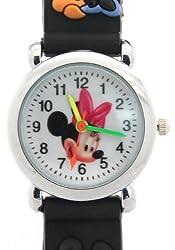 Timernall Cartoon Micky Mouse Quartz Black Kids Watches