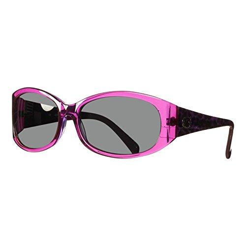 Guess 7377 Womens/Ladies Designer Full-rim 100% UVA & UVB Lenses Sunglasses/Eyewear (58-15-130, Purple / Cheetah - Guess Purple Sunglasses