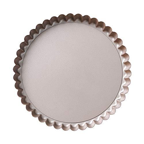 Fluted Round Tart Pan - Bakerdream Tart Pan Removable Bottom, 8 Inch Quiche Pan, Fluted Tart Pan (1)