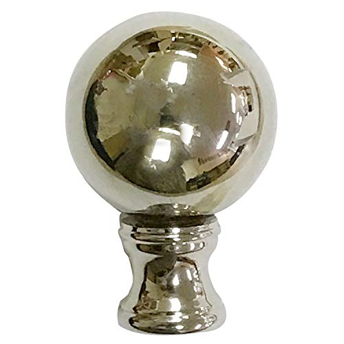 - Royal Designs Large Ball Lamp Finial for Lamp Shade- Polished Silver