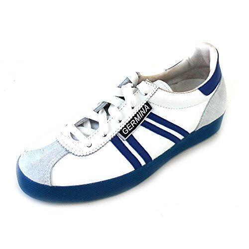Blanc Pour Classics Homme Blue white Weiß Baskets Germina wOqFp