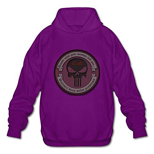 KEIKO Men's American Sniper Chris Kyle Frog Foundation Hoodies XXL Purple