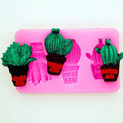 Molde de silicona para tartas cactus jab/ón Jeffyo chocolate utensilios para hornear modelado