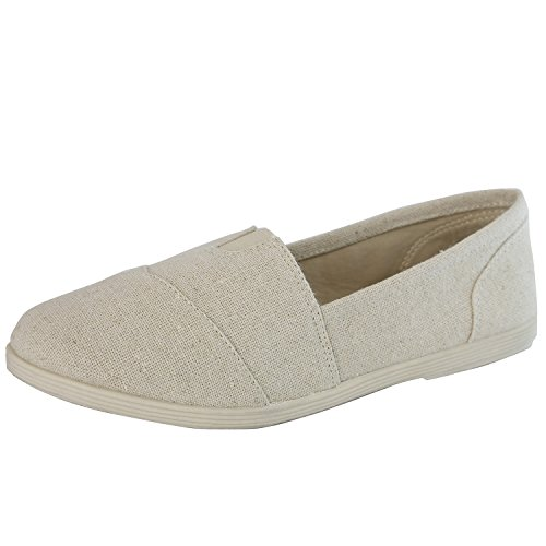 DailyShoes-Womens-Classic-Flats-Memory-Foam-Cushioned-Elastic-Gore-Soft-Canvas-Daily-Slip-On-Casual-Sneaker-Flat-Shoes