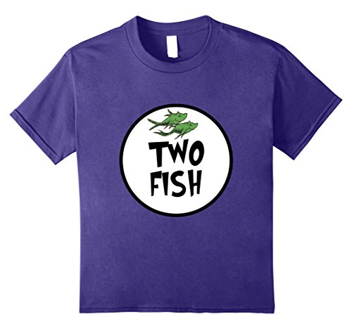 Cute Simple Group Costumes (Kids Cute Rhyming Two Fish T-shirt | Group Matching Costume 8 Purple)