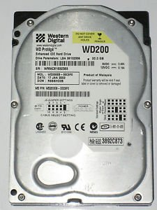 20 Gb Ide Hard Drive (WESTERN DIGITAL WD200EB-00CSF0 20GB 3.5 INCH IDE HARD DRIVE DATE:22 MAY 2002, DCM: RSCATD2B)
