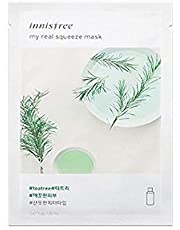"""Innisfree My Real Squeeze Mask Sheet 18 types 20m x 5 pcs"""" New products launched in September 2017"""" (8. Tea Tree)"""