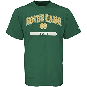 NCAA Russell Notre Dame Fighting Irish Green Dad T-shirt (Small)