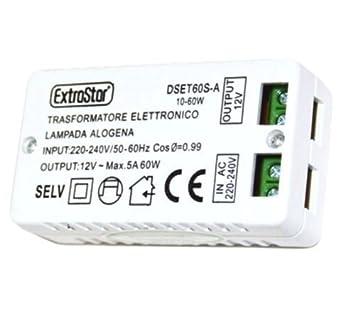Takestop Transformateur Electronique Dset60s A Pour Lampe Halogene