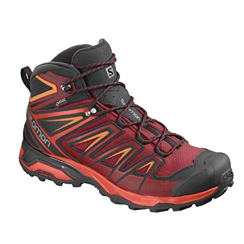 Salomon X Ultra 3 Mid GTX Hiking Boot - Men's Red Dahlia/Cherry Tomato/Tangelo, US 12.0/UK 11.5