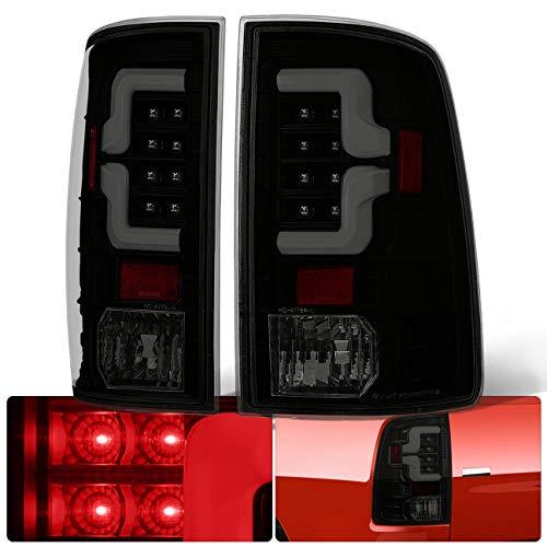 AJP Distributors Smoke Lens Black Housing Tube Bar Led Tail Lights Lamps 2009 2010 2011 2012 2013 2014 2015 2016 2017 2018 Ram 1500 2500 3500 09 10 11 12 13 14 15 16 17 18