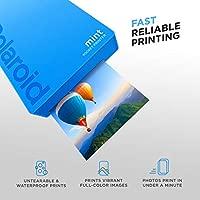 Polaroid Mint: Impresora instantánea de Bolsillo (Azul) Paquete básico + Papel (20 Hojas) + Funda Deluxe