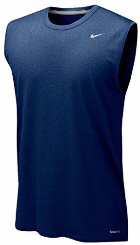 Nike Mens Legend Dri Fit Sleeveless T Shirt (Small, Navy)