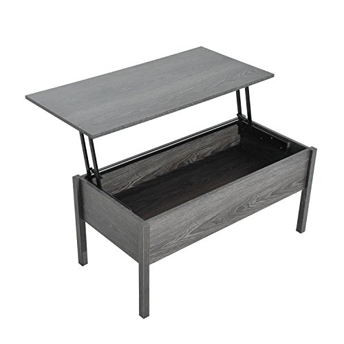 HomCom Lift Top Storage Coffee Table – Grey
