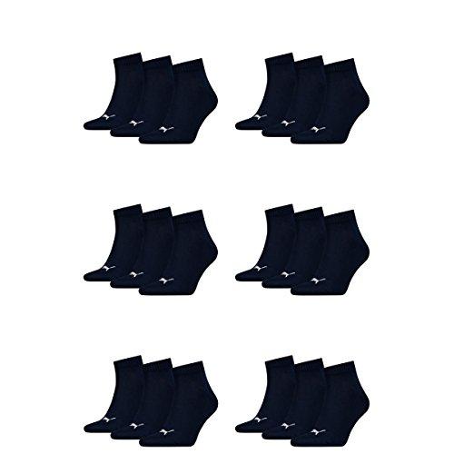 18 pair Puma Sneaker Quarter Socks Unisex Mens & Ladies 321 - navy