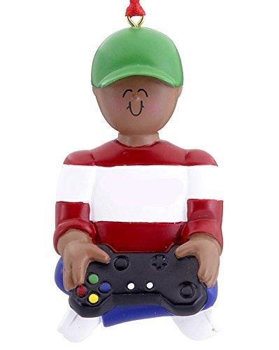 Ethnic Video Game Boy Christmas Ornament