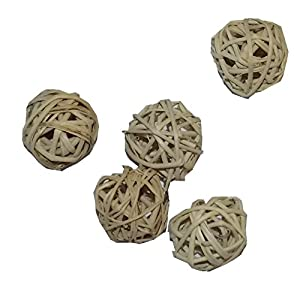 All Natural Mini Vine Balls - Chew Toys For Hamsters, Gerbils, Mice, Parakeets, Finches, and Other Small Pets (Set of Five 1 Inch Wicker Balls) 19