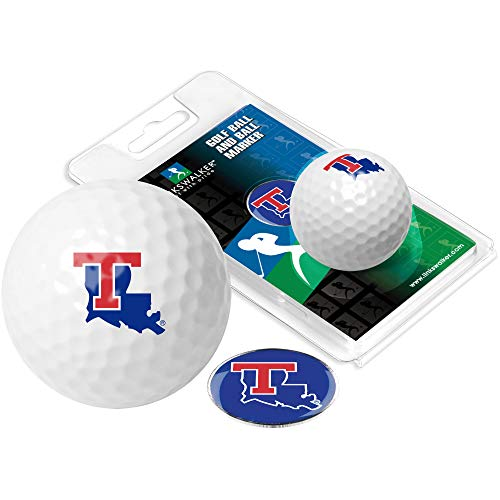 NCAA Louisiana Tech Bulldogs - Golf Ball One Pack with Marker