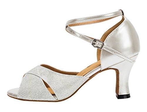 TDA - Zapatos con tacón mujer 7cm Heel Silver