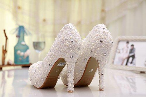 Minitoo ,  Damen Plateau Ivory-12cm Heel