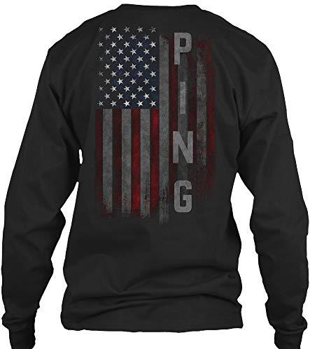 Ping Mens Long Sleeve - Ping XL - Black Long Sleeve Tshirt - Gildan 6.1oz Long Sleeve Tee