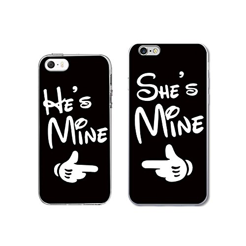 iPhone5+6 Couple Case for Best Friend or Lover-TTOTT Unique Fashion Cute Stylish Ultra-Slim Bumper Protective Back Case for iPhone[Left One for iPhone5/5S/5SE Right One for 6/6S]