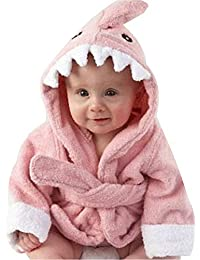 38f7e354fe Baby Boys Girls 0-3 Years Bath Towel Shark Owl Design Bathrobe Cute Hooded