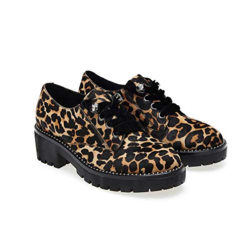 Leopardato 35 Ville Leopardato EU Multicolore Chaussures Apepazza de pour à Lacets Femme Z8xzPRn