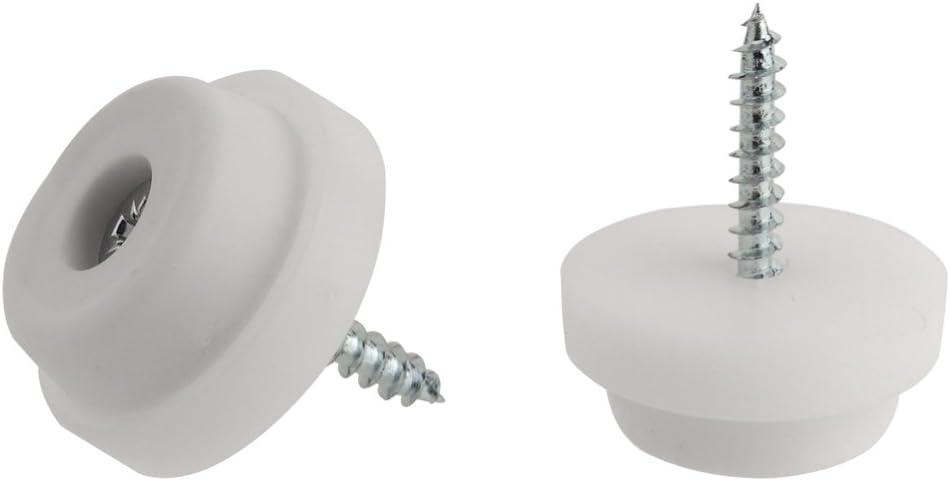 chaise Patins antid/érapants en caoutchouc pour pieds de meubles tables Fabriqu/é en Allemagne Caoutchouc noir ou blanc de 24/mm ou 28/mm de diam/ètre
