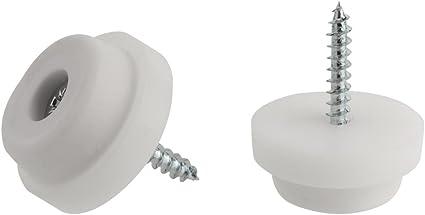 Piedini in gomma antiscivolo per mobili, tavoli, sedie, Tappo di gomma nero o bianco per proteggere il pavimento, Misure disponibili: 24 mm e 28 mm di