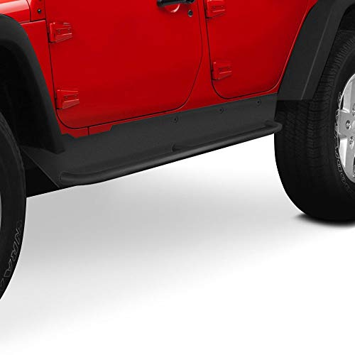 Smittybilt 76865 XRC Rock Sliders w/ Step, 76-86 CJ7 Textured Black