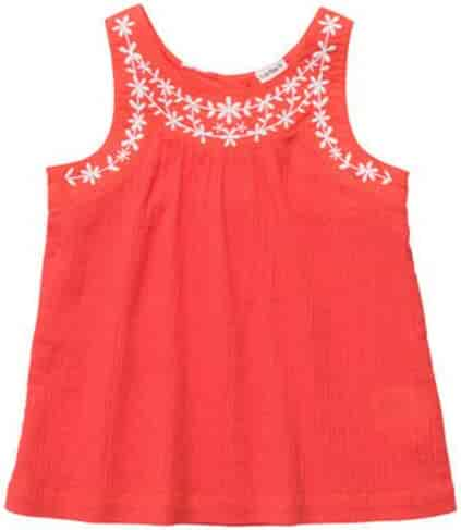 Share n Smiles Girls Satin Damask Ruffle Tank Choose Color and Size