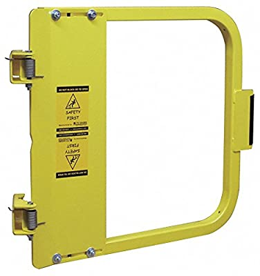 "PS DOORS LSG-33-PCY Ladder Safety Gate Mild Carbon Steel, Powder Coat Yellow, Fits Opening 31-3/4"" to 35-1/2"", Each"
