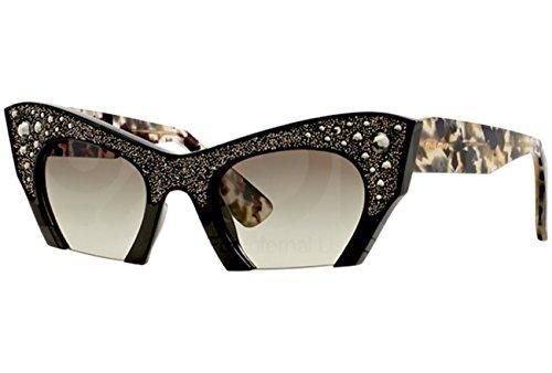 - Sunglasses Miu Miu 02QS Black Cat-eye