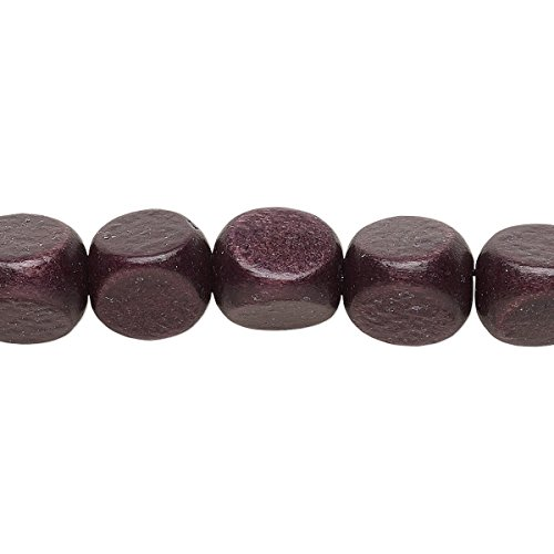 Bead wood (dyed / waxed) chocolate brown 10mm rounded triangle with 1.5-2.5mm hole (Dyed Mm Chocolate 10)