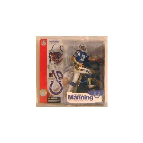 Peyton Manning #18 Indianapolis Colts Blue Jersey Uniform Chase Alternate Variant Action Figure McFarlane NFL Series 4 by (Variant Mcfarlane Toys)