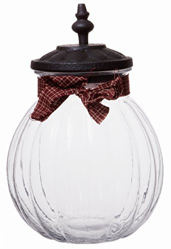 Round Clear Vintage Lidded Glass Candy Jar, Decorative Centerpiece Storage Container Solution, Large, 9-inch
