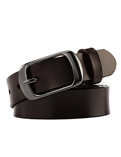 Chicwe Women's Plus Size Genuine Leather Waist Belt with Alloy Buckle