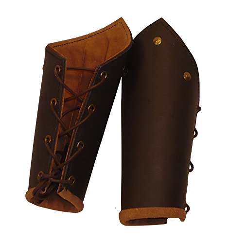Knights Battle Bracers brown leather product image