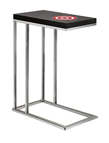 Black Laminate (Formica) and Chrome Finish Slide-Under TV Tray/End Table with Your Choice of Novelty Theme (Target) (Trays Target Tv Dinner)