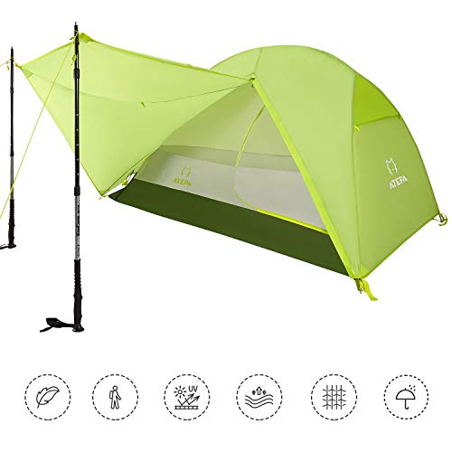 🥇 ATEPA Backpacking Tent 1-3 Person Ultralight Waterproof Camping Tent