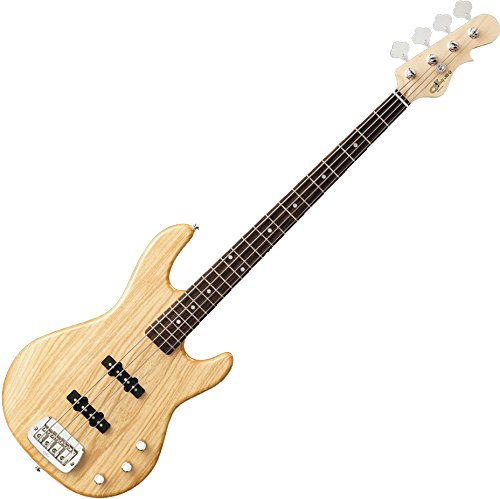 G&L Tribute JB2 4-String Electric Bass Gloss Natural Rosewood Fretboard (Bass Electric Guitar Natural)