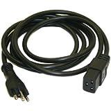 Interpower 86286510 Brazil Cord Set, NBR 14136 Plug Type, IEC 60320 C19 Connector Type, Black Plug Color, Black Cable Color, 16A Amperage, 250VAC Voltage, 2.5m Length