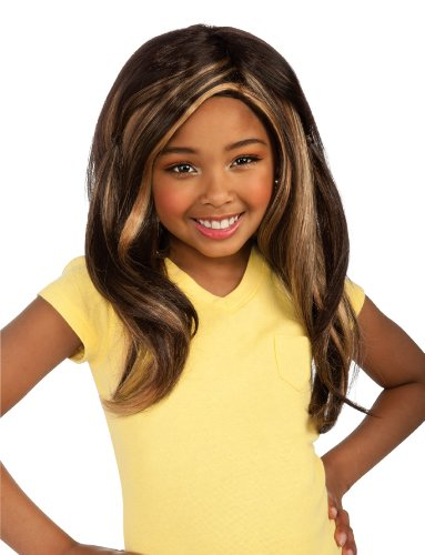 Girls Bratz Sasha Rocks Wig - Child Std. Rubies Bratz Sasha Child Wig Rubies - Domestic 52558