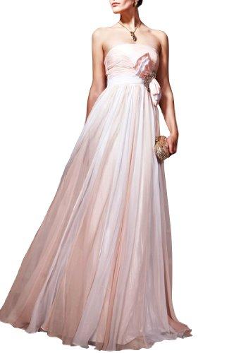 Full Dress Strapless Natrual Chiffon A Tangerine Evening Length line Fw1q5Z6x0