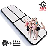 Happybuy 10' x 3.3' Air Track Tumbling Mat Inflatable Gymnastic Mat Air Floor Mat Electric Air Pump Home/Cheerleading/Training/Kungfu/Yoga/Parkour/Water