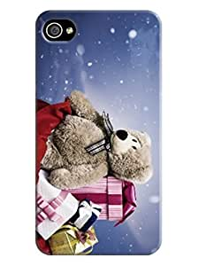 Santa Claus Merry Christmas theme TPU cover case for iPhone 4 designed